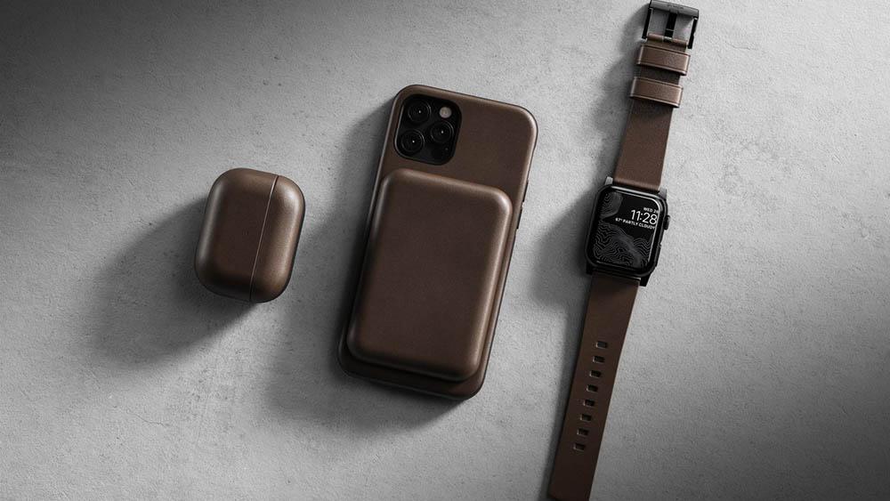 Nomad Leather MagSafe Battery case
