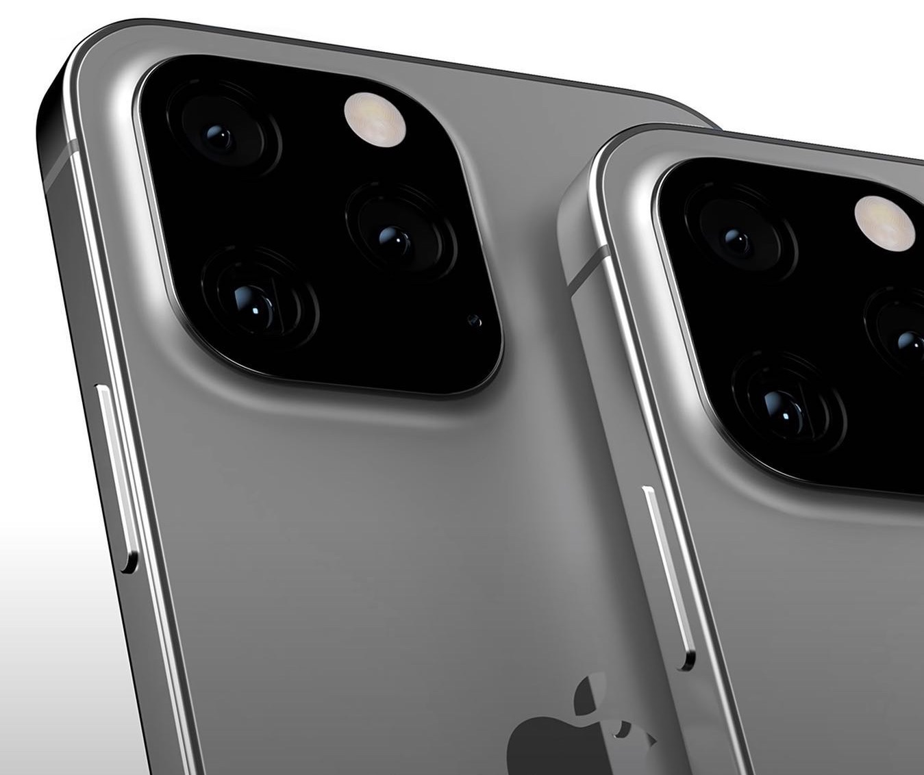 Concept van titanium iPhone.