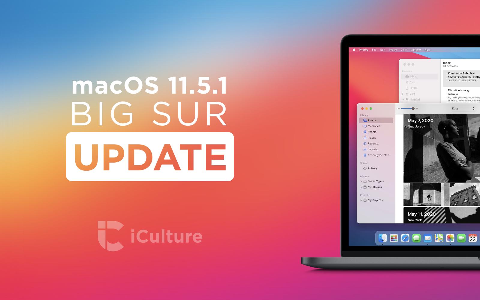 macOS Big Sur 11.5.1.