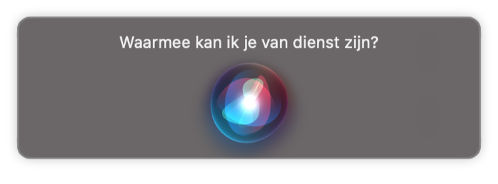 Siri Mac gebruiken