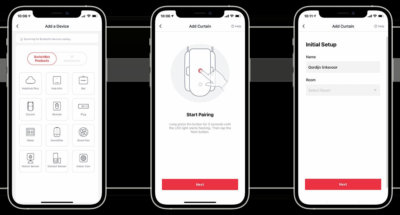 SwitchBot Curtain-app