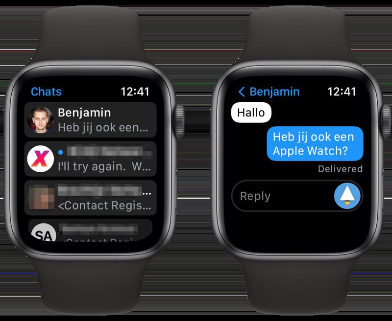 Nanogram Messenger Telegram voor Apple Watch