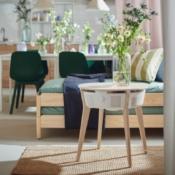 IKEA STARKVIND slimme luchtreiniger bijzettafel.