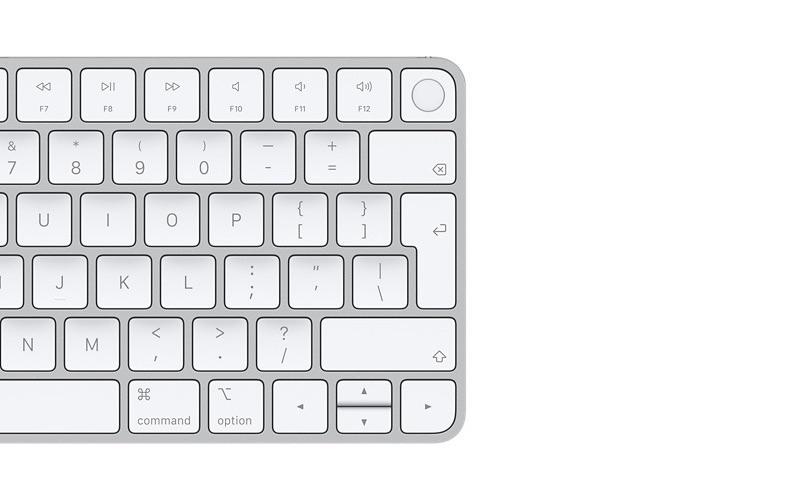 Magic Keyboard met Touch ID in zilver.