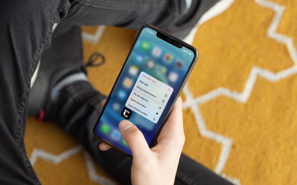 Quick Actions op iPhone met iCulture-app.