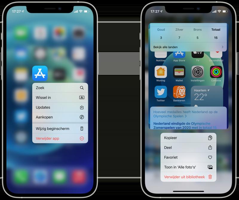 Quick Actions op iPhone: gebruik snelle taken.