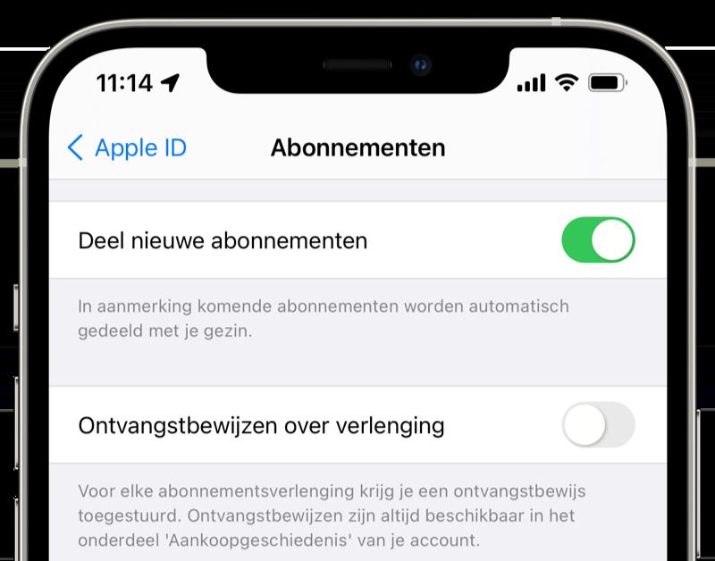 Factuur voor app abonnement uitschakelen