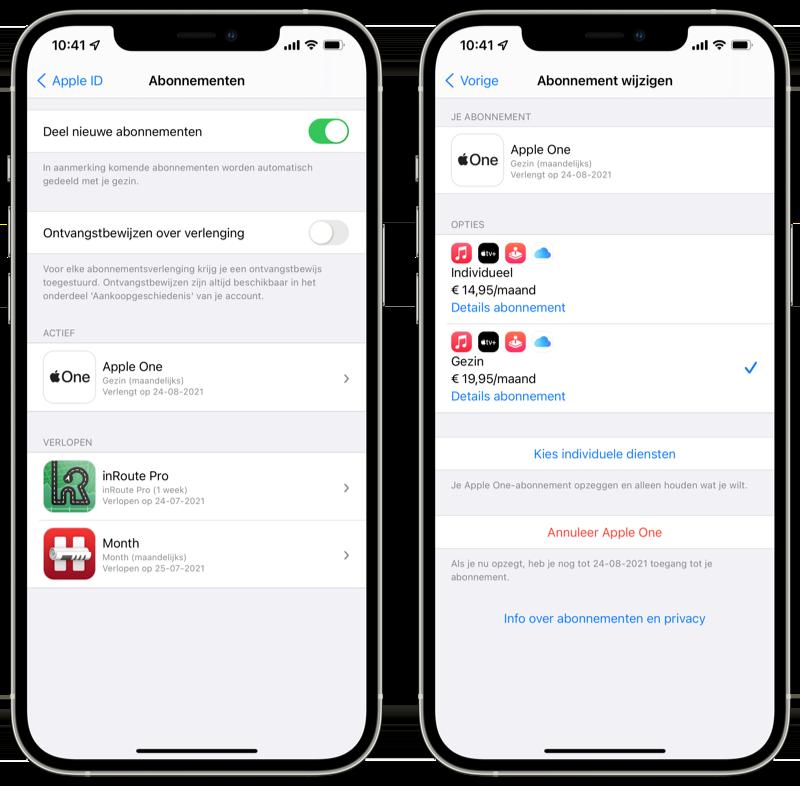 Lidmaatschap wijzigen App Store