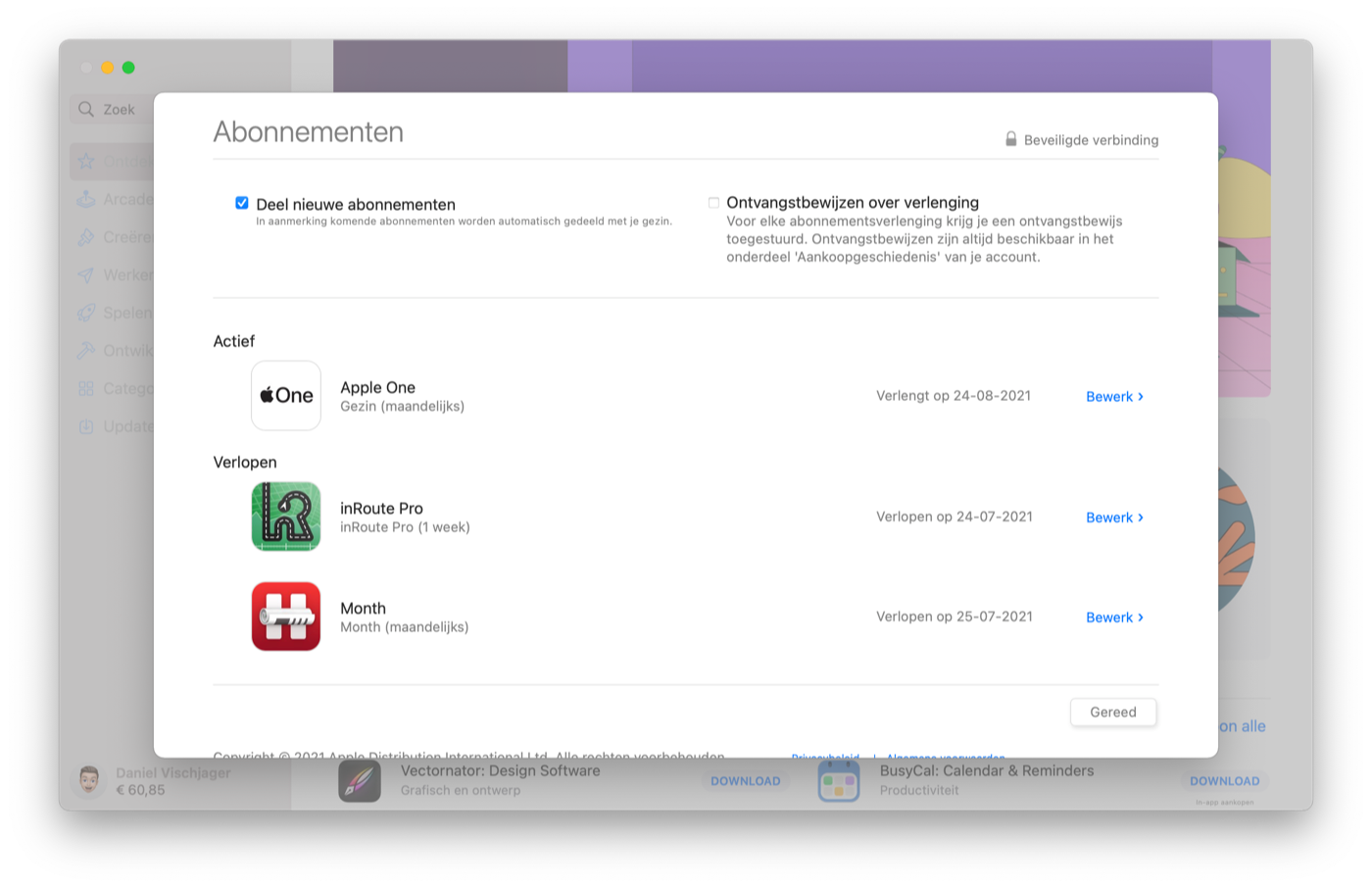 Mac App Store abonnement opzeggen