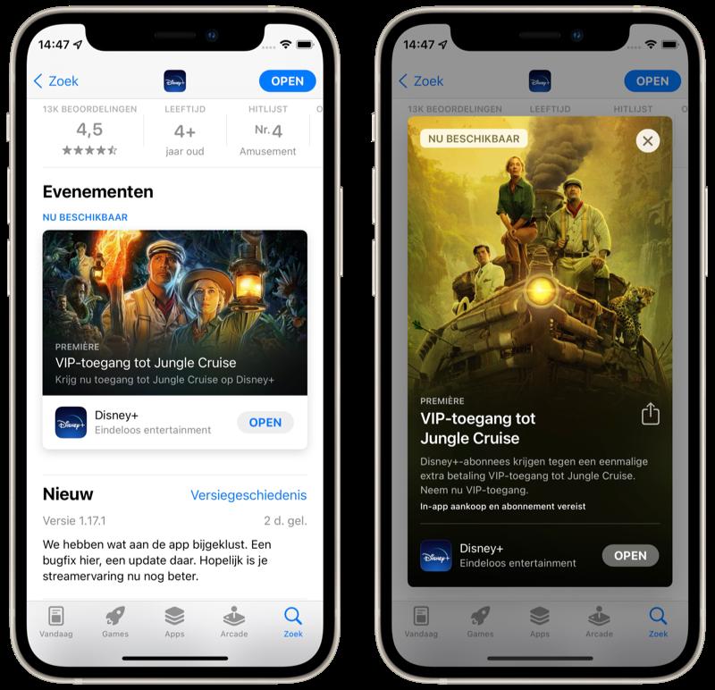 App-events in de App Store in iOS 15.
