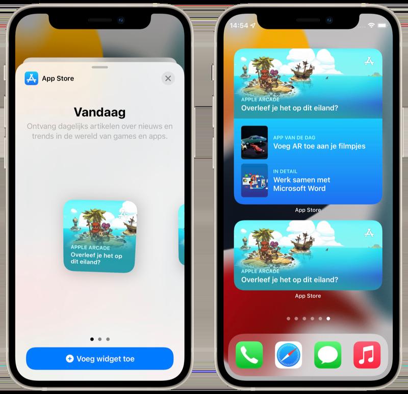 App Store widgets in iOS 15.