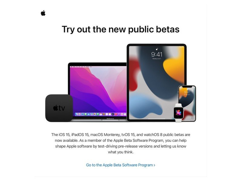 Apple betaprogramma uitnodiging
