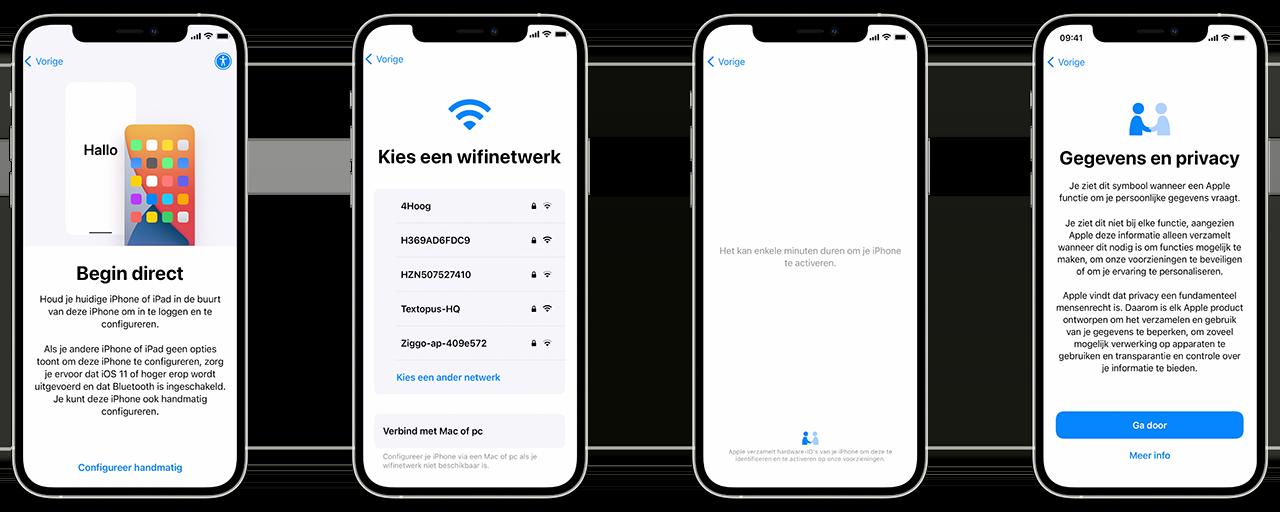 iPhone inrichten, activeren en verbinding maken