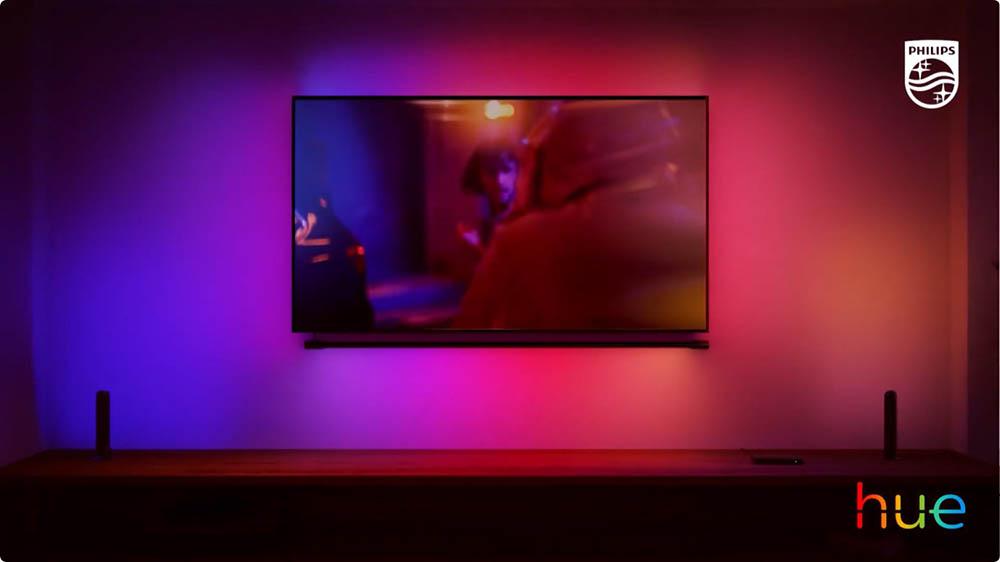 Philips Hue Play Gradient Light Tube op de muur