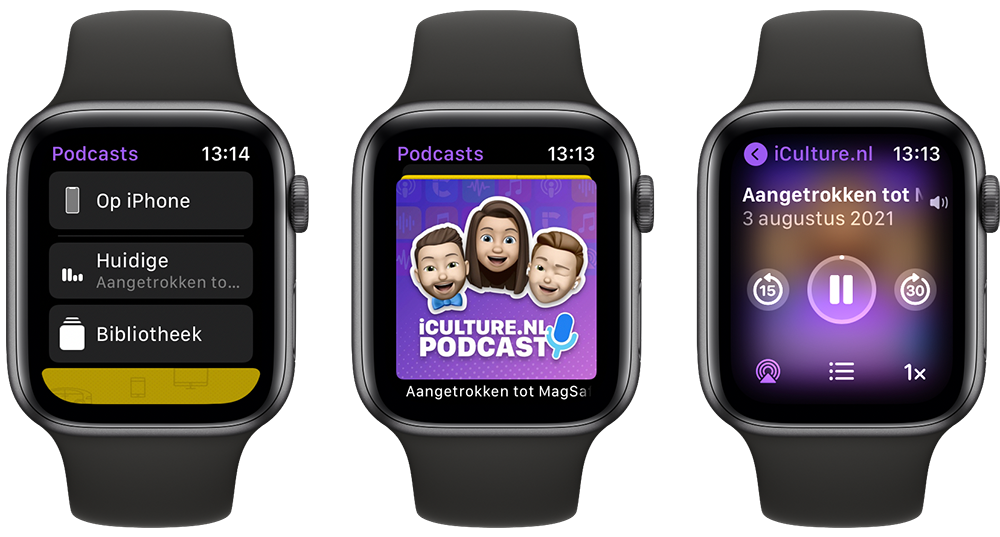 Podcasts op de Apple Watch