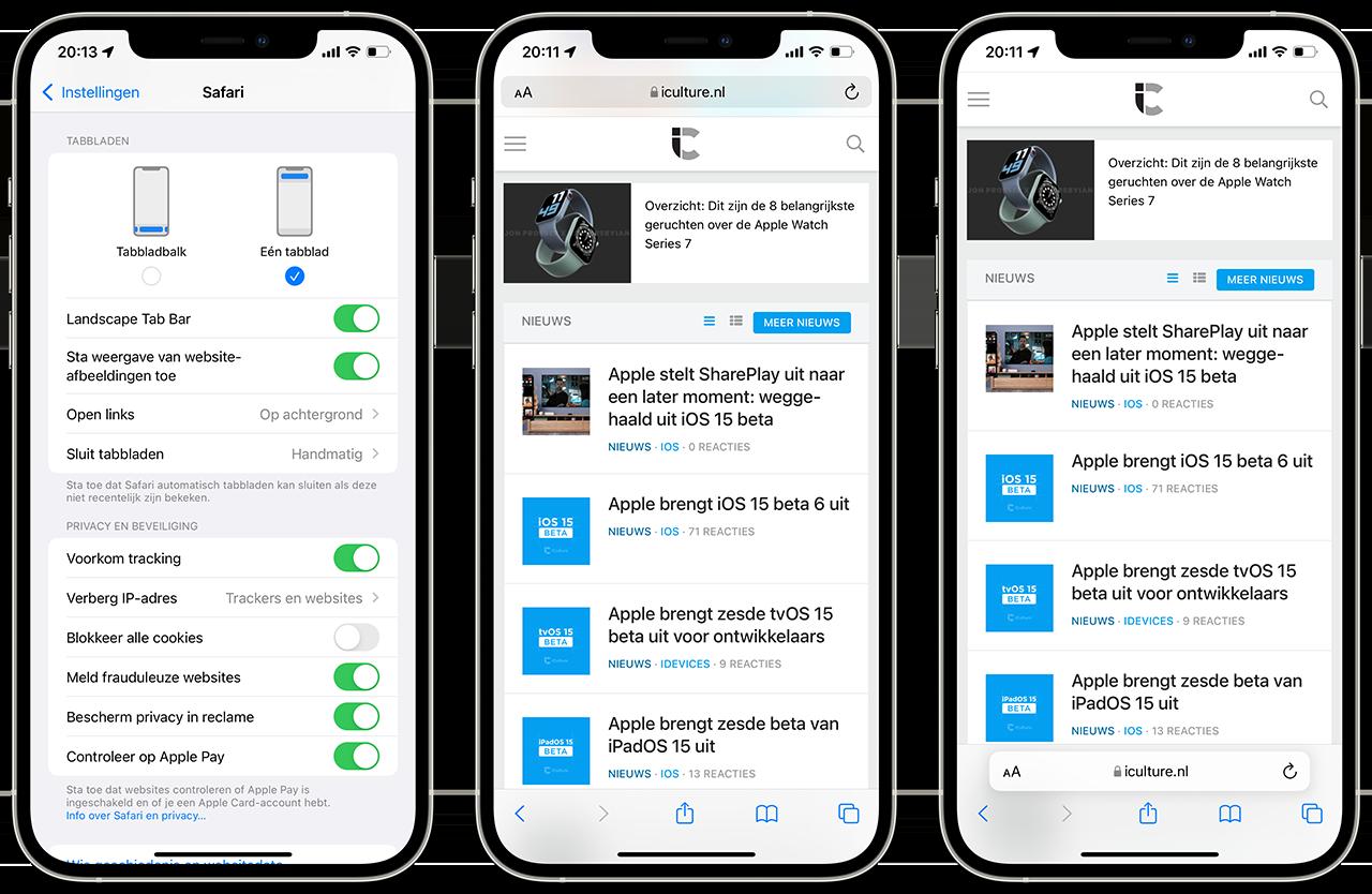 Safari iOS 15 beta 6
