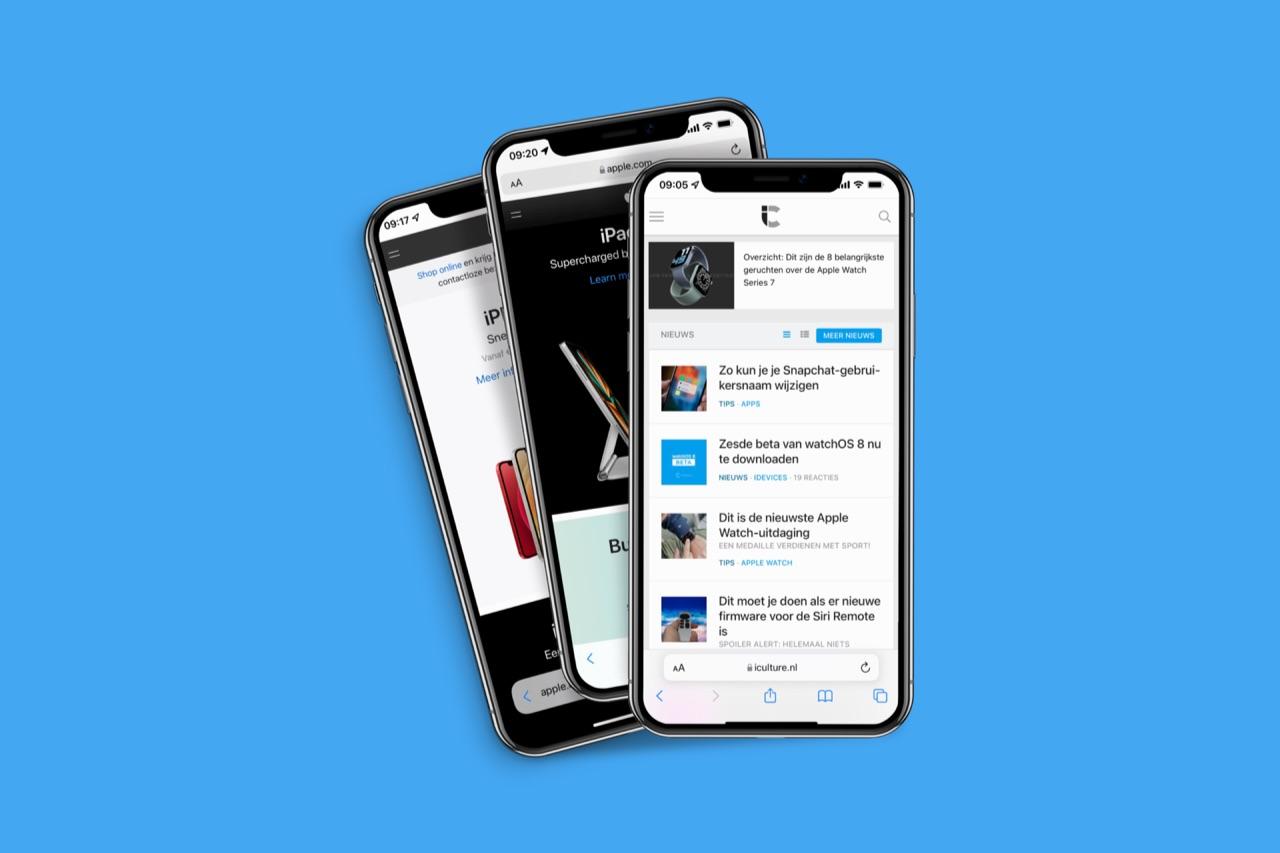 Safari: iOS 15 designs.