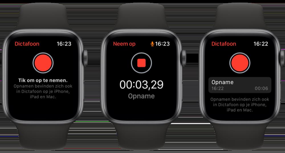 Dictafoon op Apple Watch