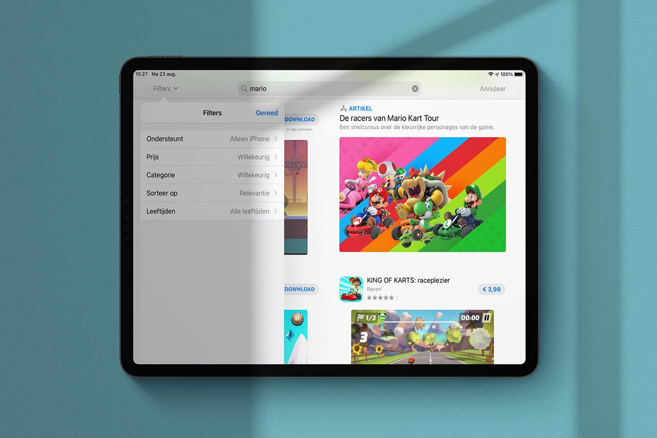 App Store iPad-apps filteren