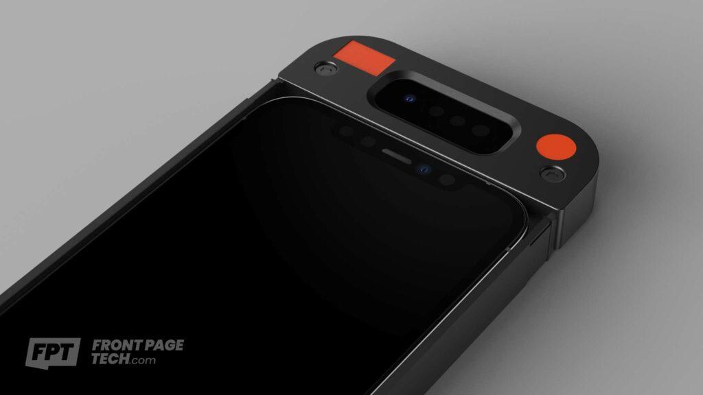 Verbeterde Face ID in prototype case voor iPhone 13.