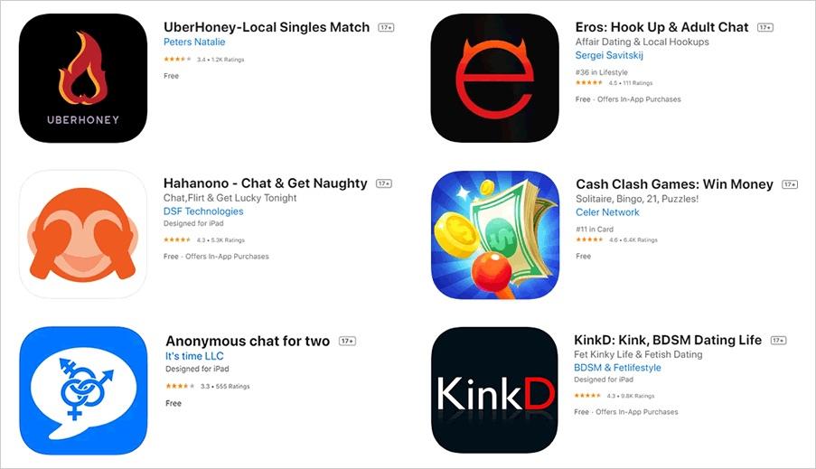 Onderzoek: apps voor volwassenen kunnen door kinderen gedownload worden.