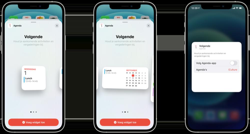 Agenda-app widgets instellen en aanpassen.