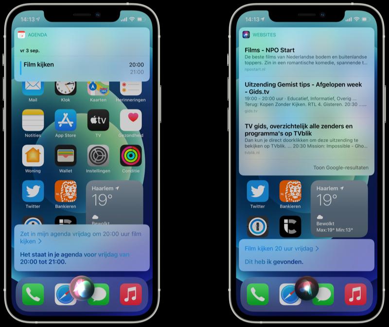 Agenda-afspraak toevoegen met Siri.