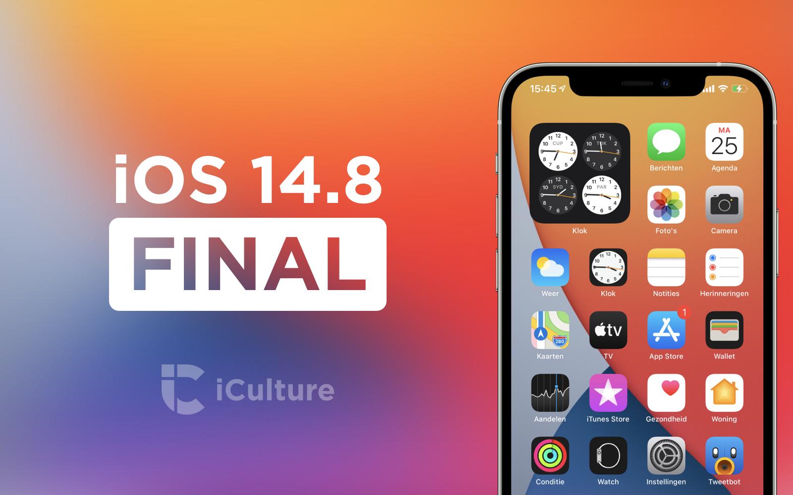 iOS 14.8 Final.