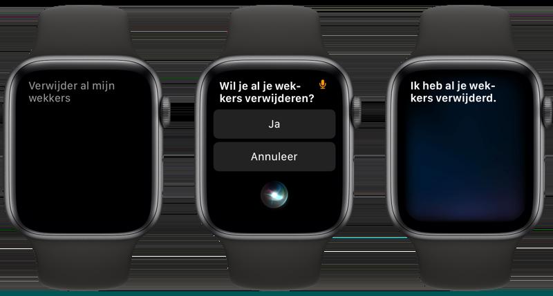 Wekkers verwijderen Apple Watch