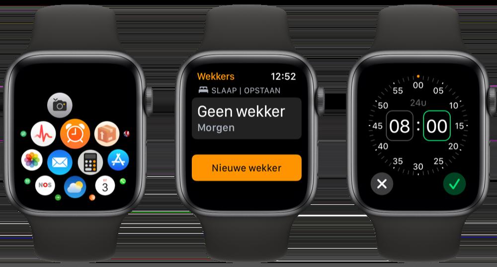 Wekker zetten op de Apple Watch