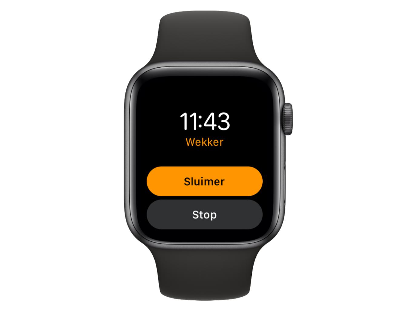 Apple Watch wekker gaat af