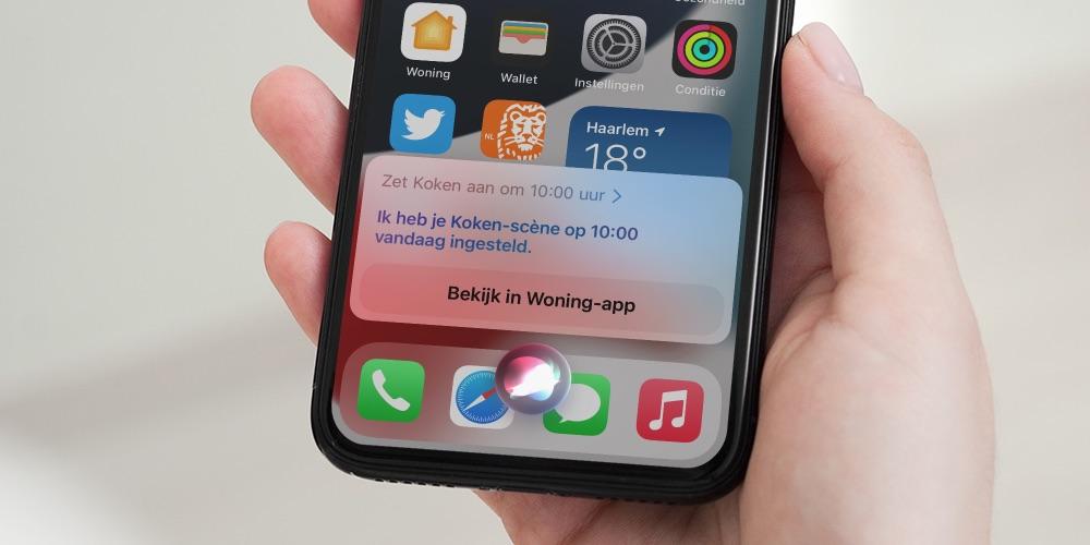 HomeKit inplannen via Siri.
