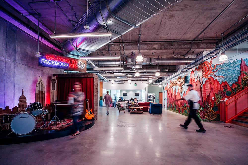 Facebook-kantoor in Austin, geopend in 2019