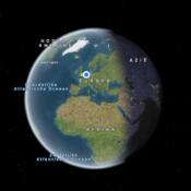 Apple Kaarten 3D aardbol met satelliet.