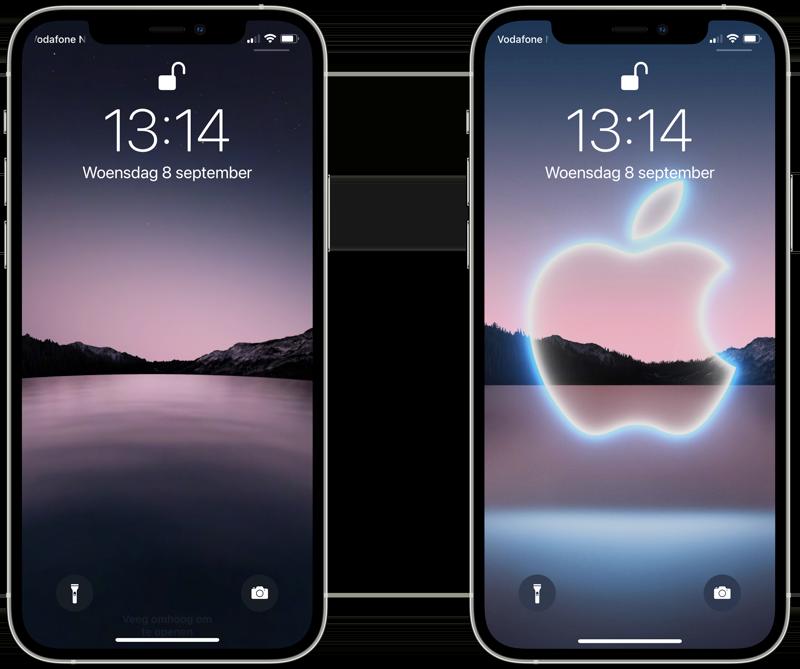 Wallpapers september 2021 event voor iPhone.