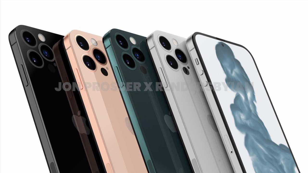 iPhone 14 отображается в нескольких цветах.