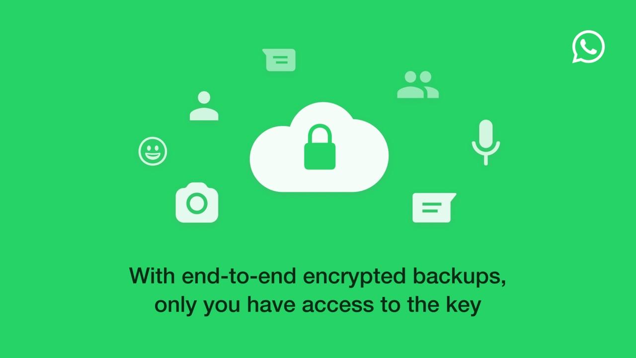 WhastApp backups met end-to-end-versleuteling.