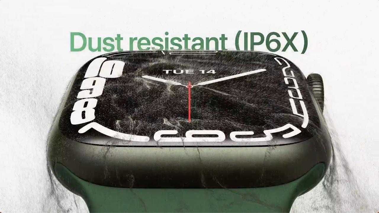 Apple Watch Series 7 è resistente alla polvere