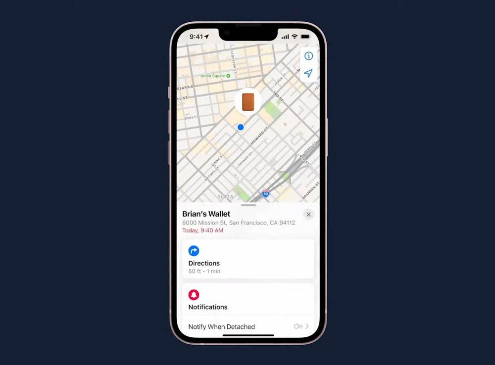 MagSafe Wallet-case met Zoek mijn-app
