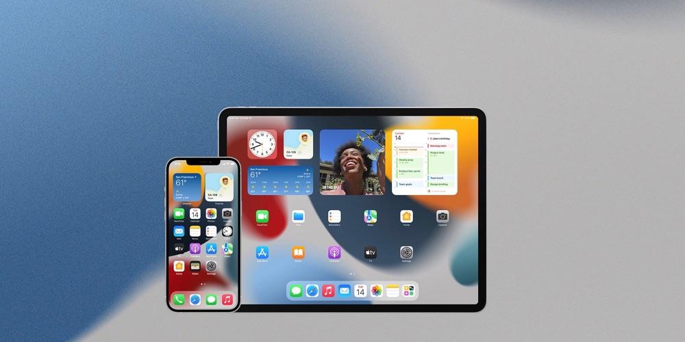 iOS 15 en iPadOS 15 homescreen.