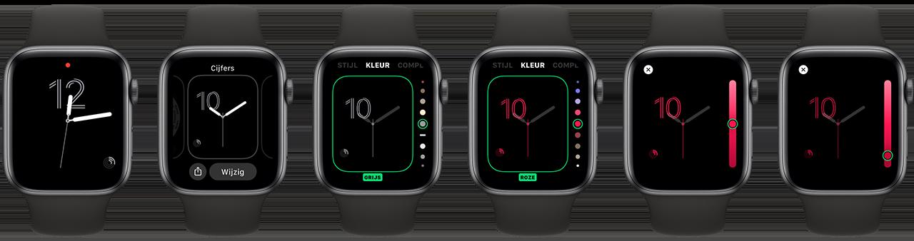 Apple Watch kleurenslider