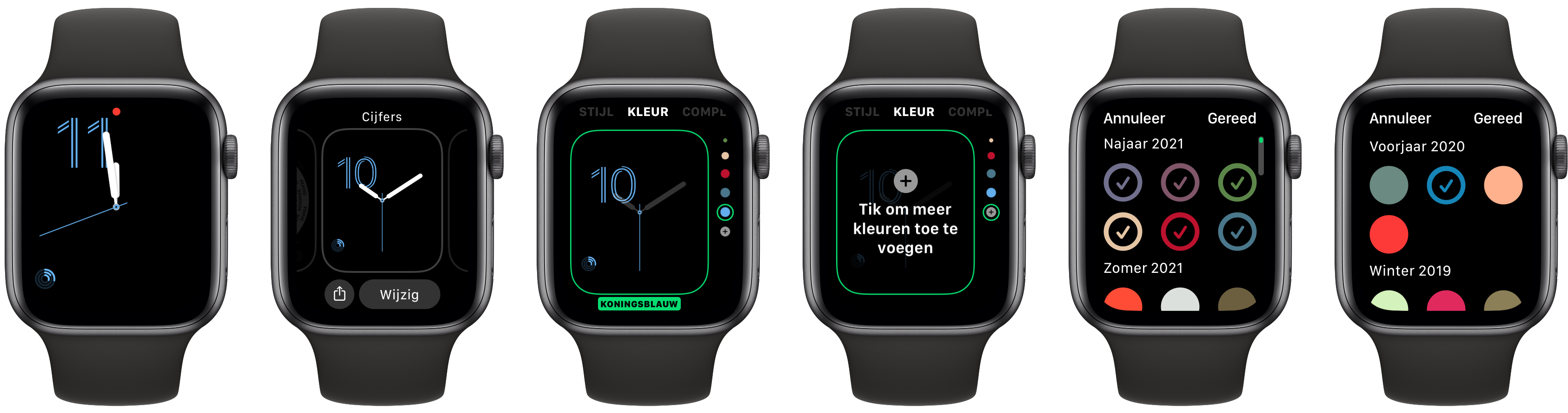 Apple Watch seizoenskleuren