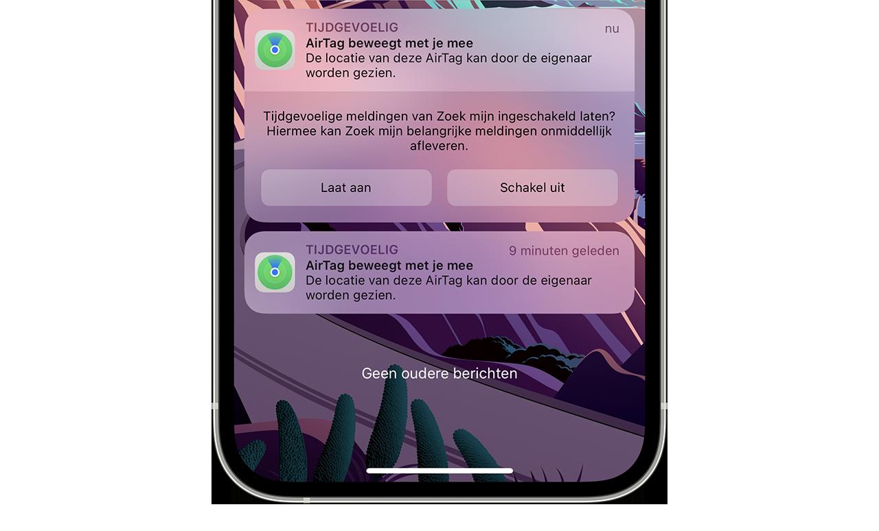 AirTag verdwenen iOS 15