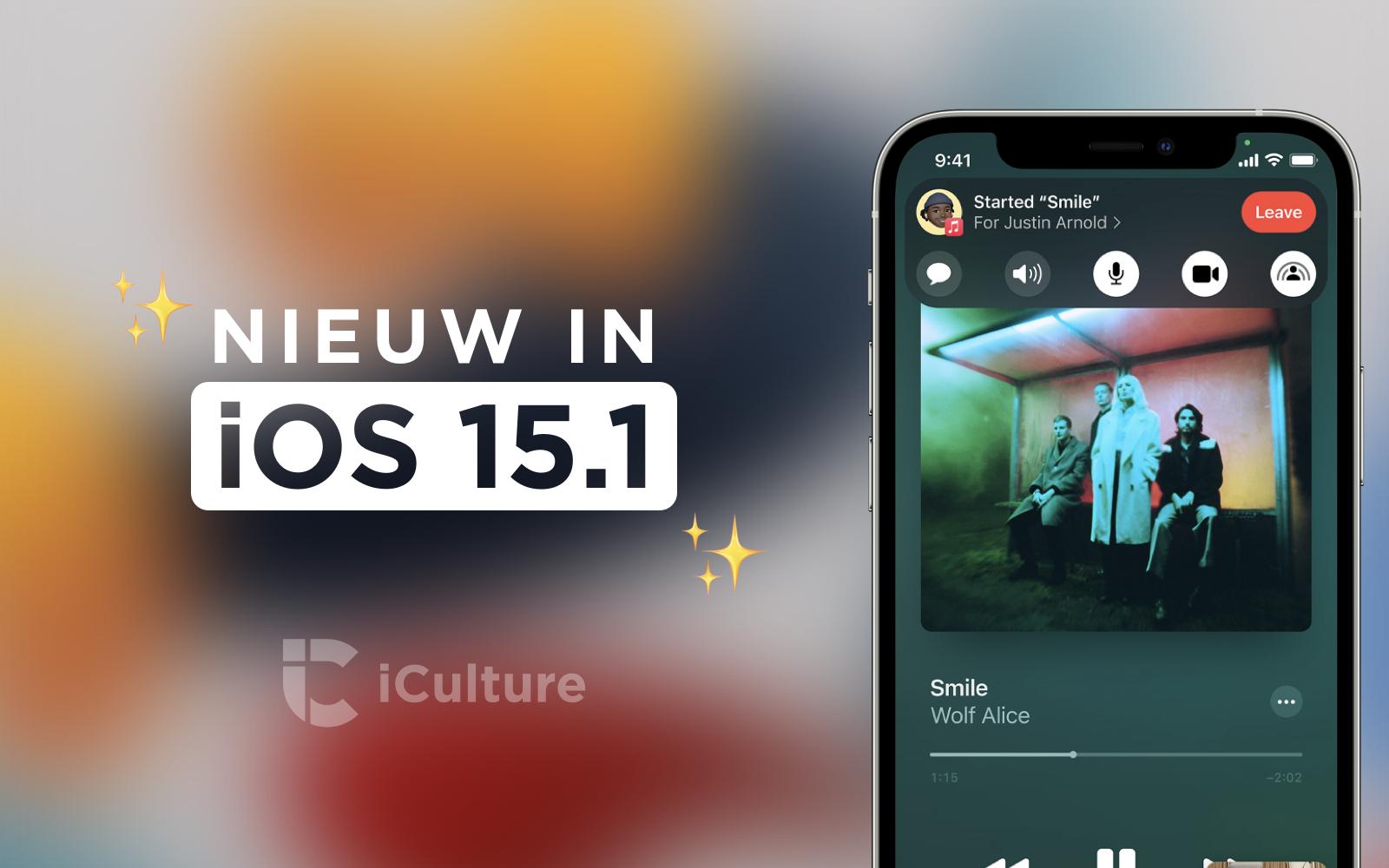 iOS 15.1-functies