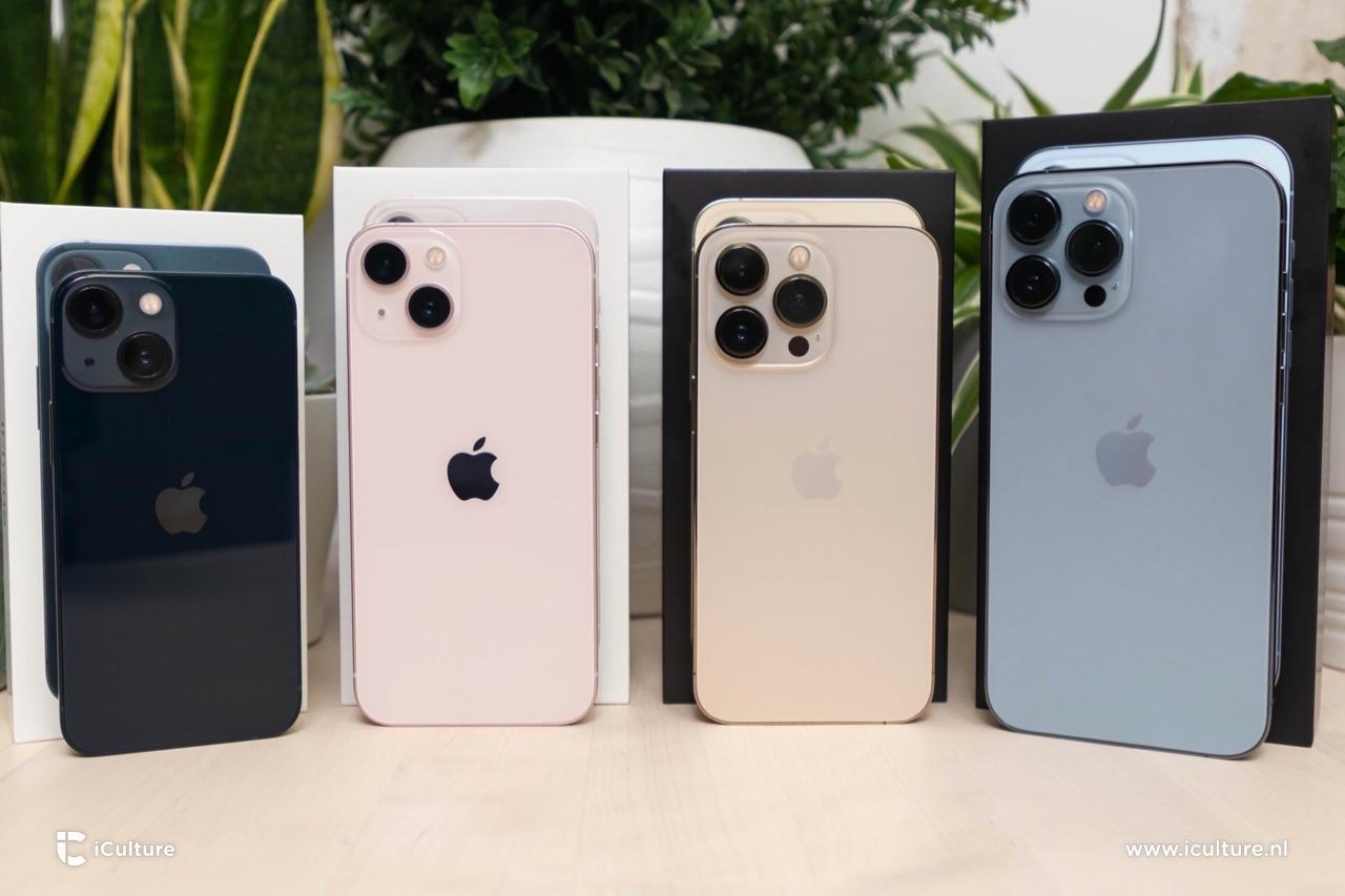 iPhone 13 line-up met verpakking