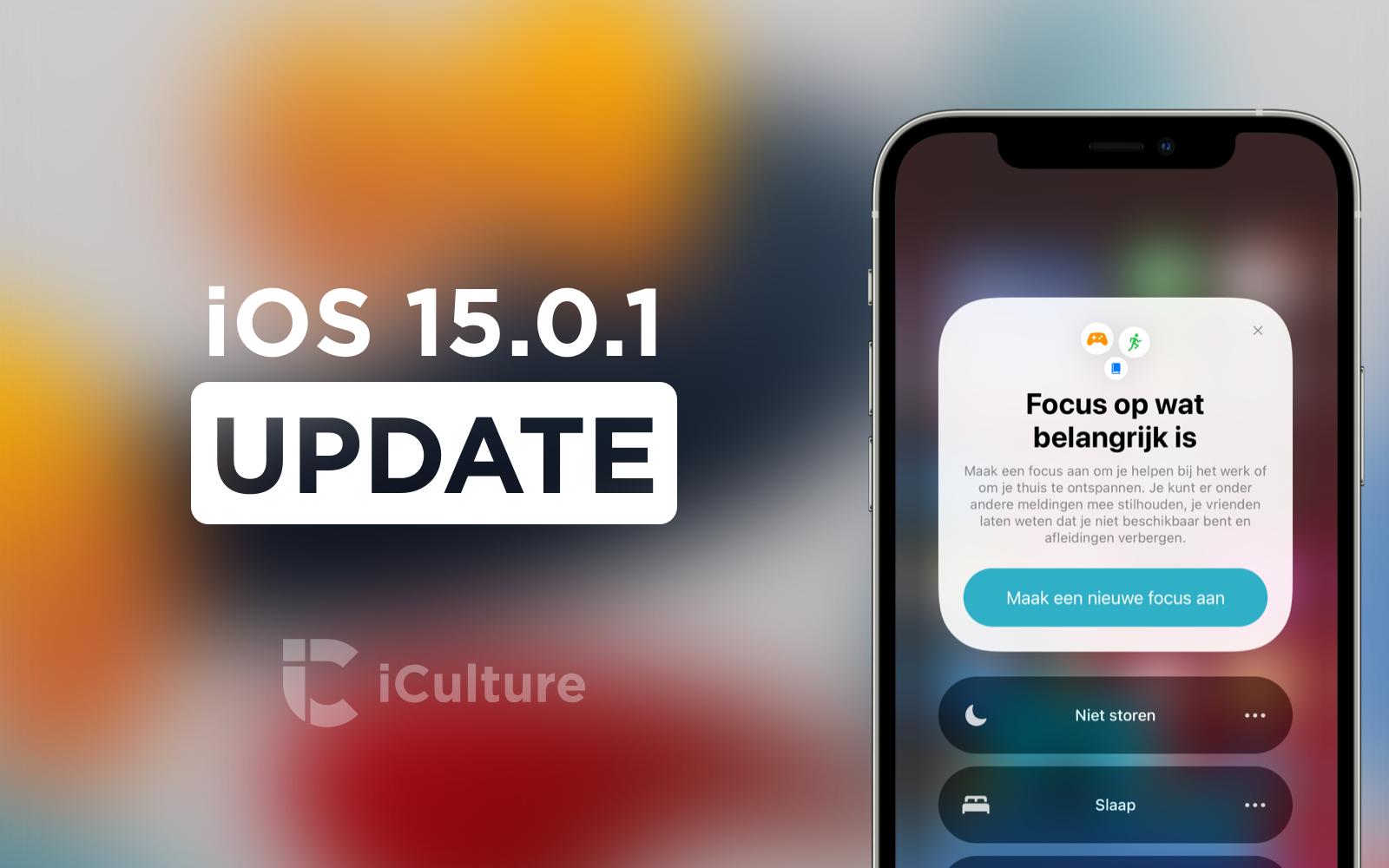 iOS 15.0.1 update.