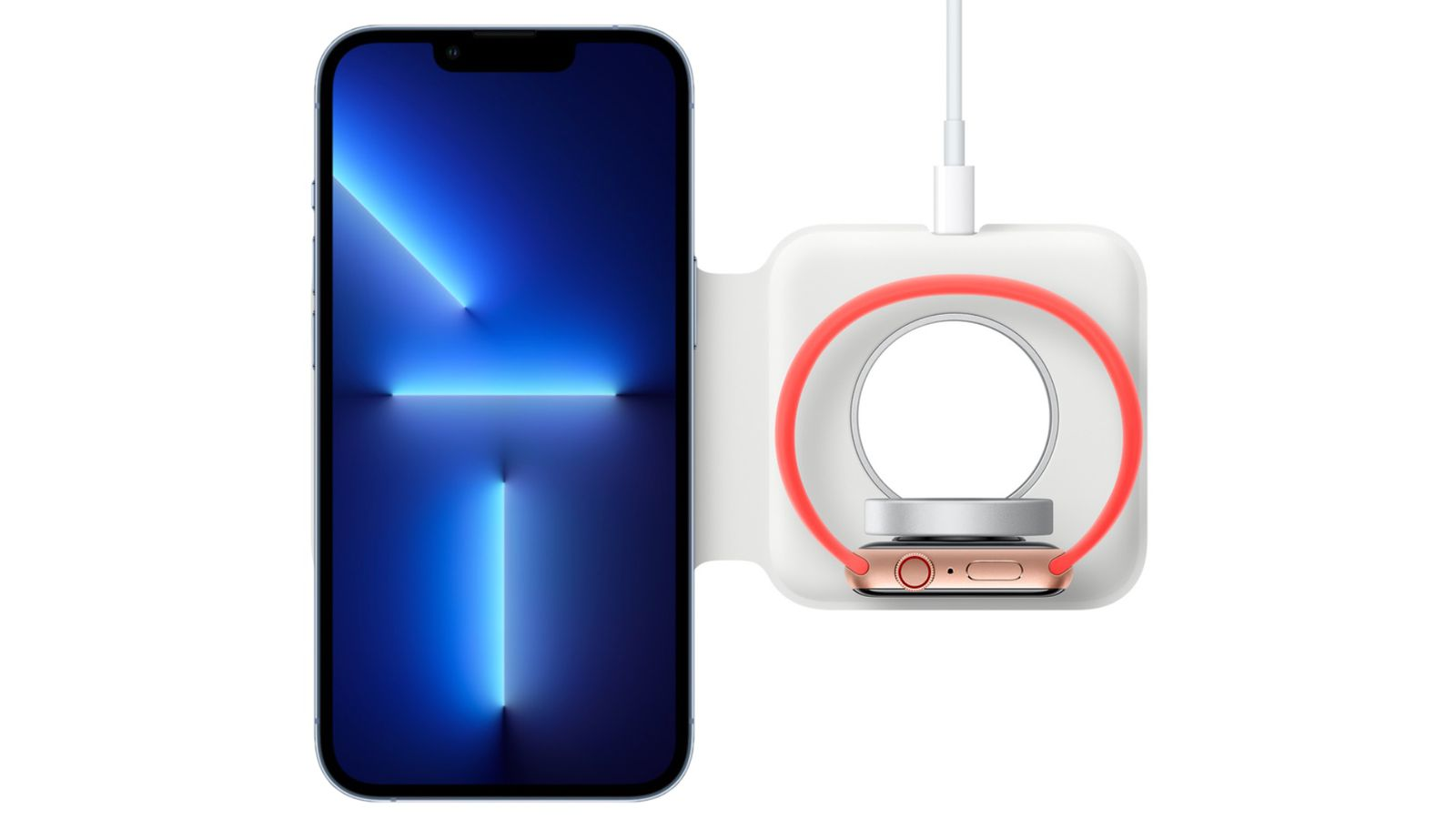 MagSafe Duo Charger met iPhone 13 Pro