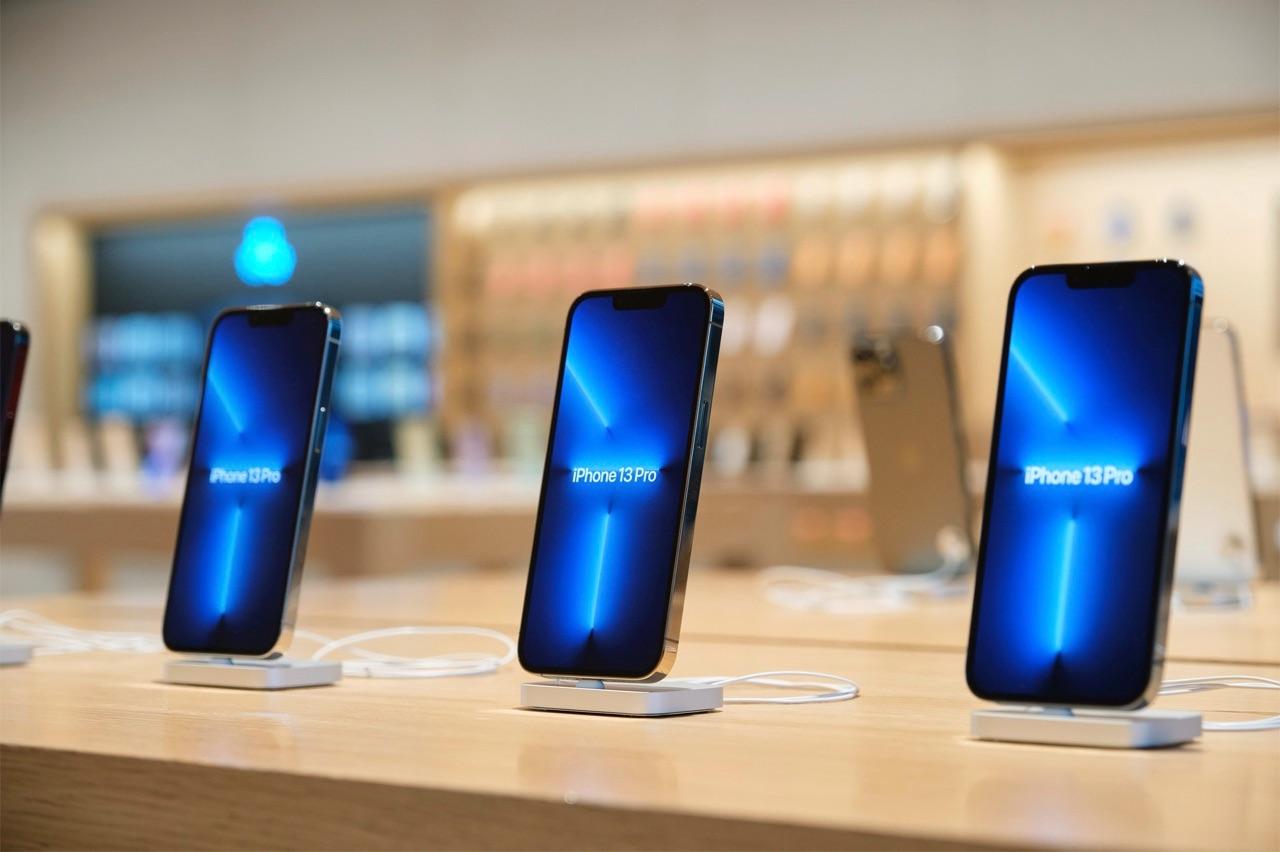 iPhone 13 Pro in de Apple Store