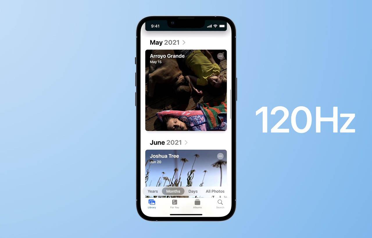 iPhone 13 Pro 120Hz ProMotion scherm