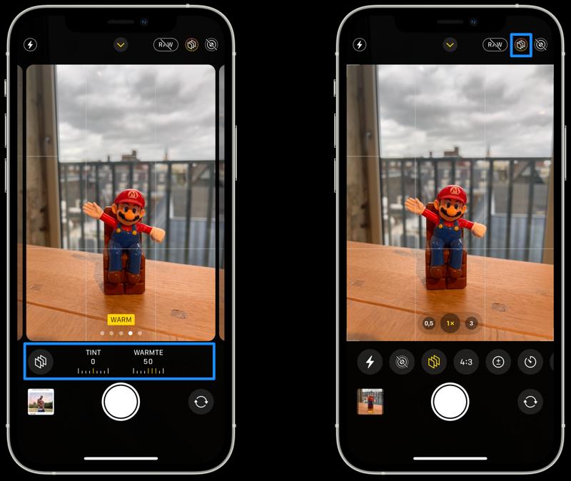 Fotografische stijlen instellen op de iPhone.